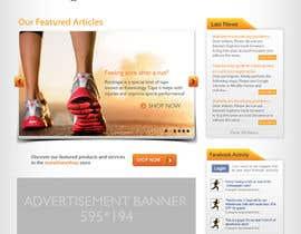 #43 cho Design a Website Mockup for TheMarathonShop bởi dzsouma