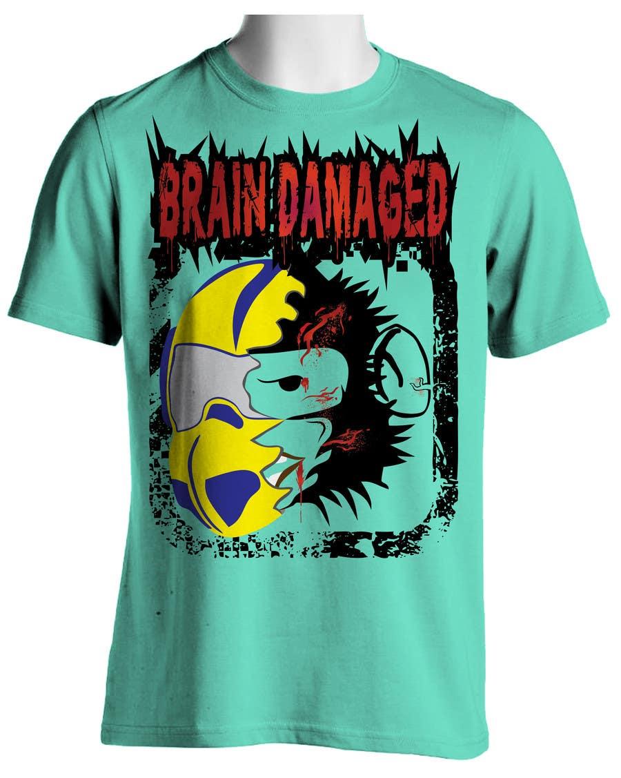 T Shirt Design Brain Damaged Freelancer