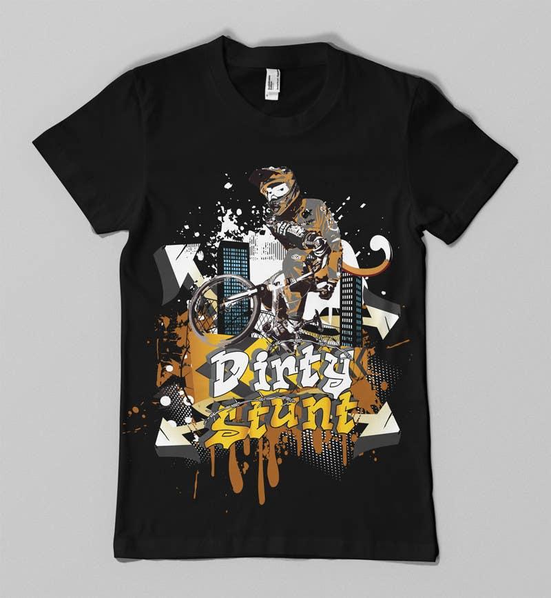 Proposition n°                                        43                                      du concours                                         T-Shirt Design Contest: Dirty Stunt