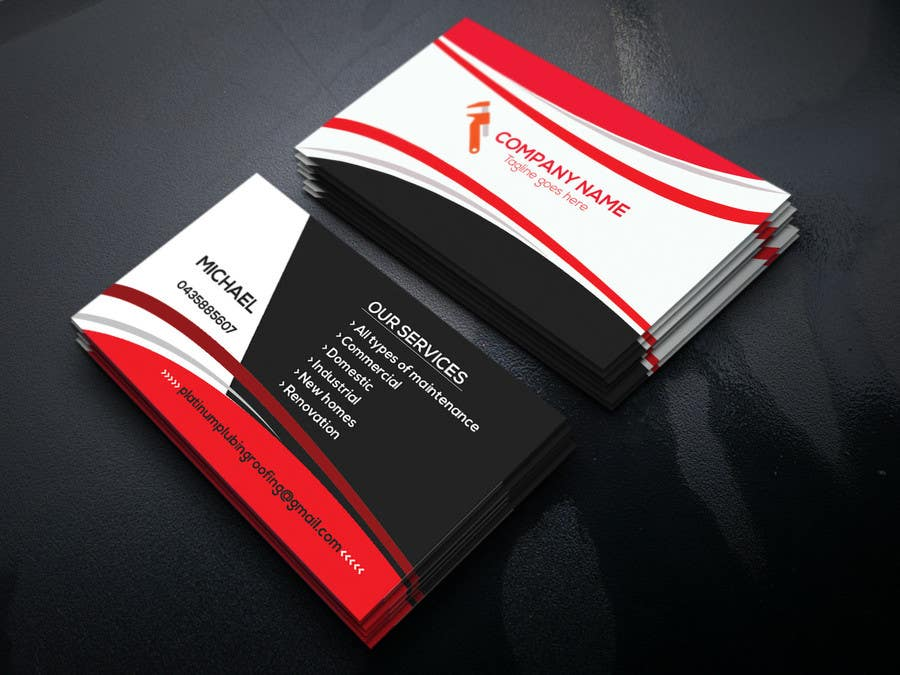 Entry #23 by smshovo for Design a plumbing business card   Freelancer