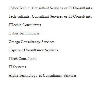 Inscrição nº                                         47                                      do Concurso para                                         Quirky name needed for IT Consultancy business