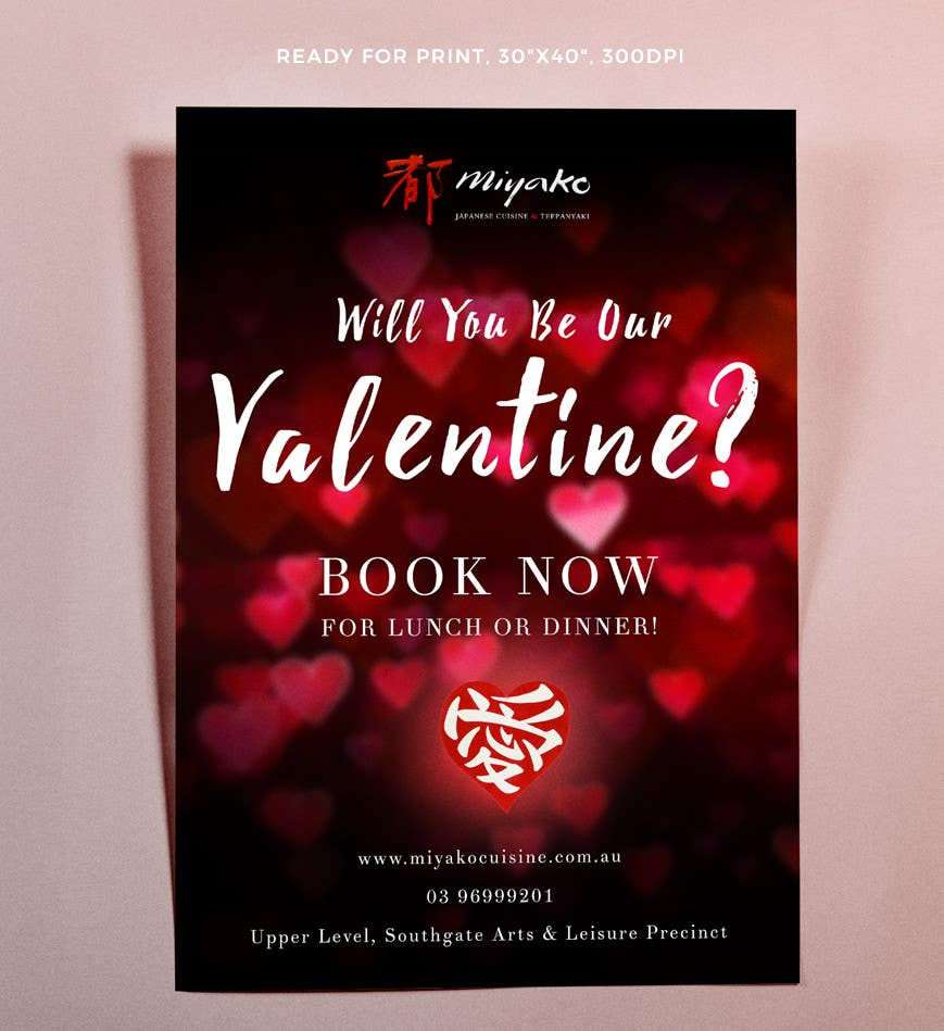 contest entry 19 for design a poster for a restaurant for valentines day bookings