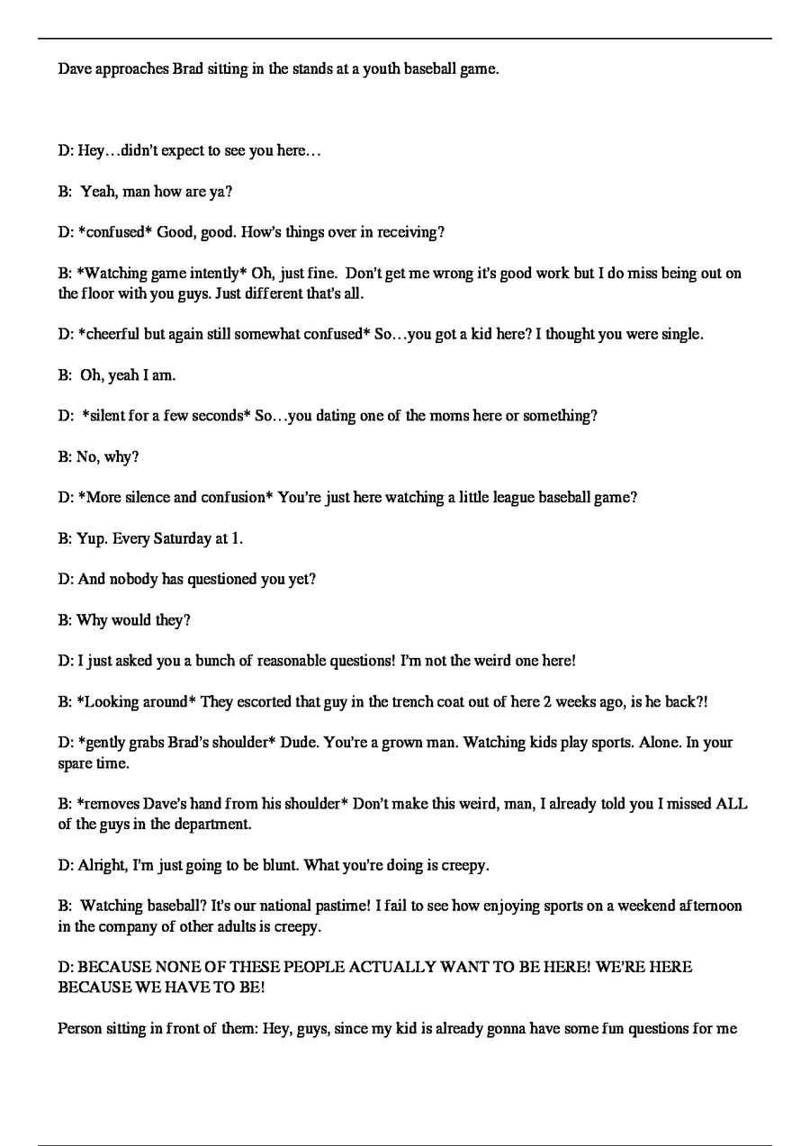 how to write a short script