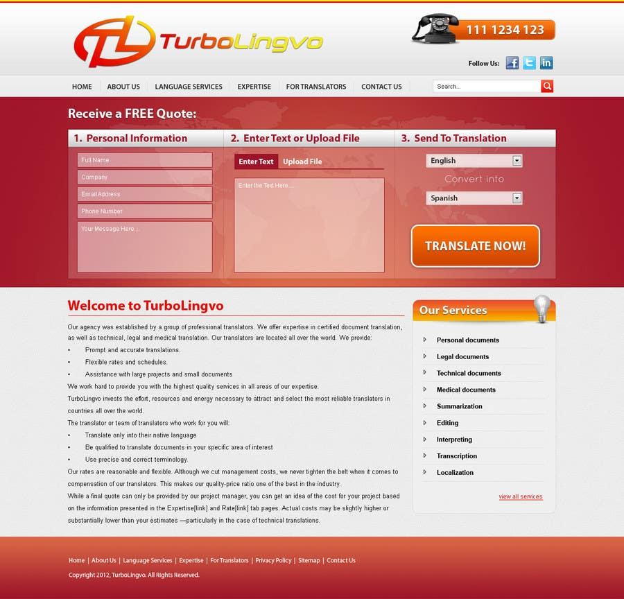 #20 for Website Design for Turbolingvo by zabirafique