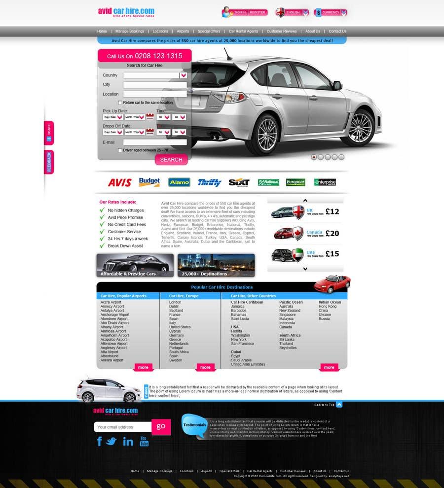 Inscrição nº                                         4                                      do Concurso para                                         Website Design for Avid Car Hire