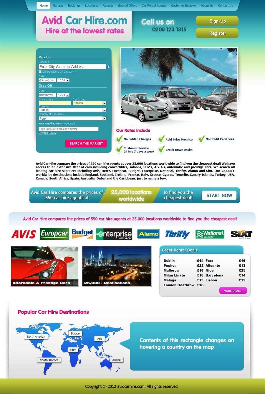 Inscrição nº                                         66                                      do Concurso para                                         Website Design for Avid Car Hire