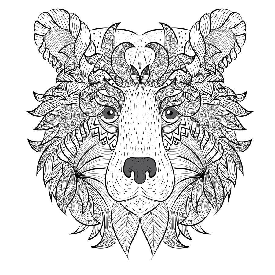#15 para Handrawn Artistic Bear (head only) Design de namikaze005