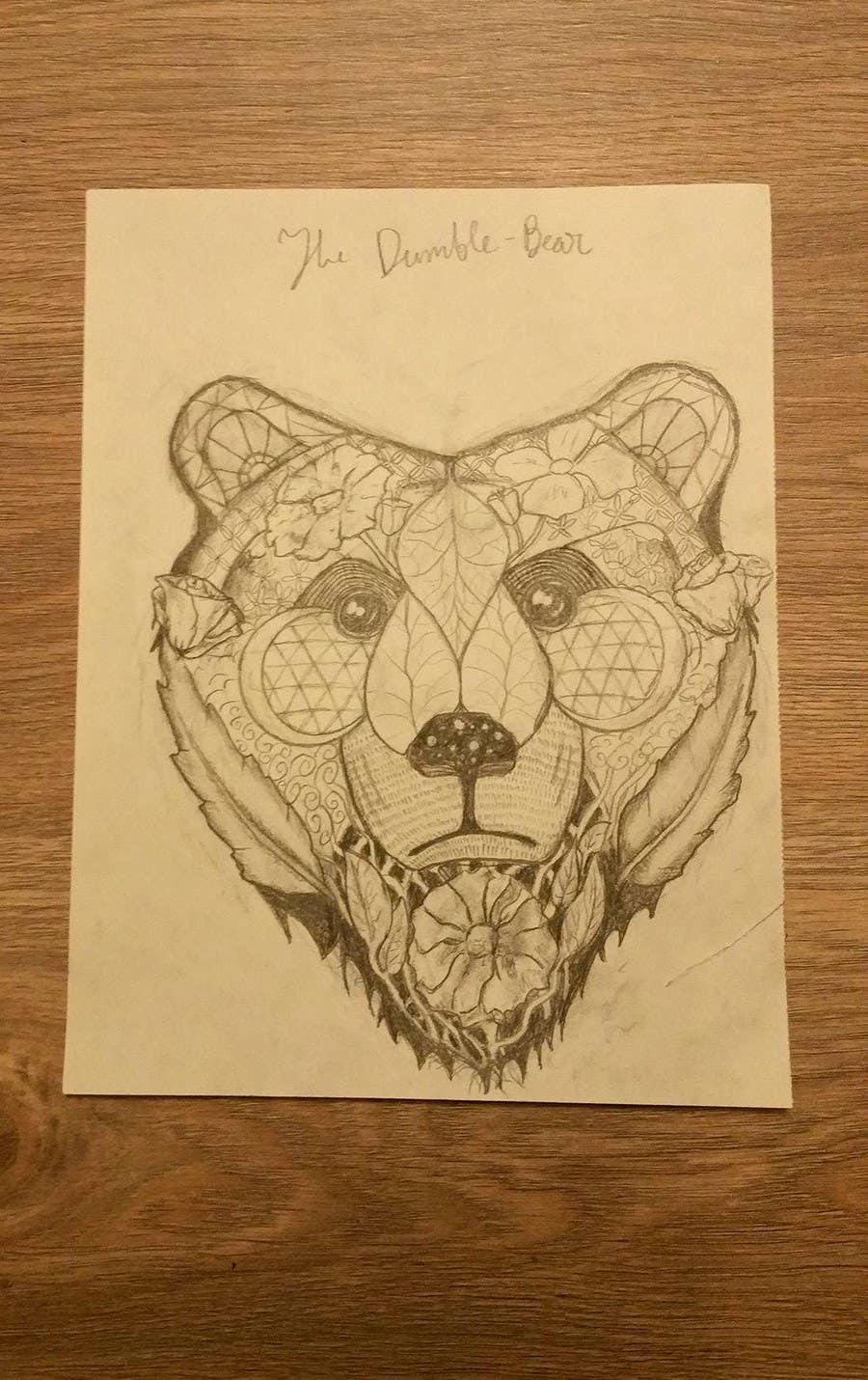 #6 para Handrawn Artistic Bear (head only) Design por Cinamora