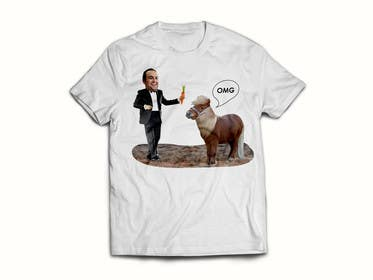 #24 for Design a T-Shirt LLoyd feeding the pony by Burmistrova
