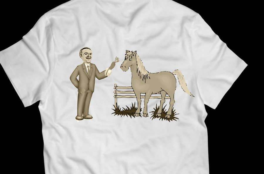 #18 for Design a T-Shirt LLoyd feeding the pony by yanuarantabua2