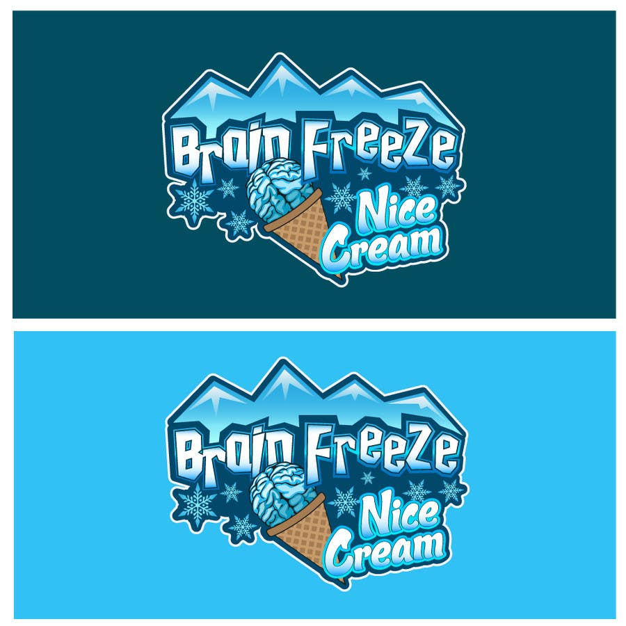 #13 for Develop a Sign for Brain Freeze NiceCream by Plastmass