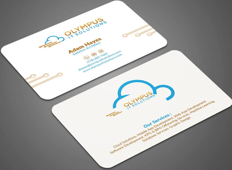 Entry #37 by mehfuz780 for Design some Business Cards for an IT ...
