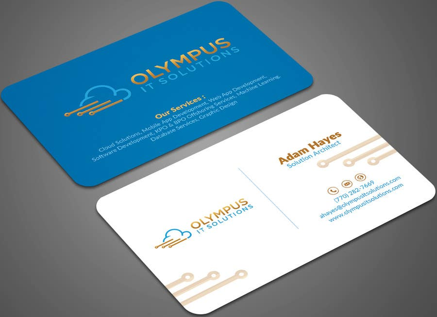 Entry #38 by mehfuz780 for Design some Business Cards for an IT ...