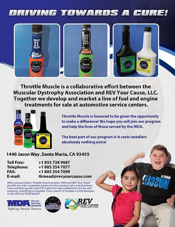 Kilpailutyö #                                        19                                      kilpailussa                                         Brochure Design for Throttle Muscle