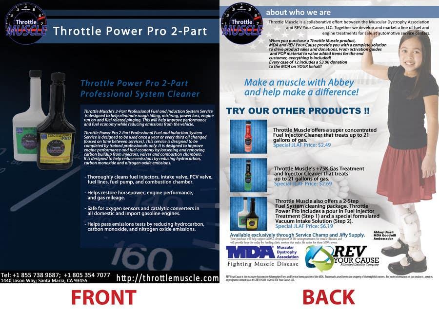 Bài tham dự cuộc thi #3 cho Brochure Design for Throttle Muscle