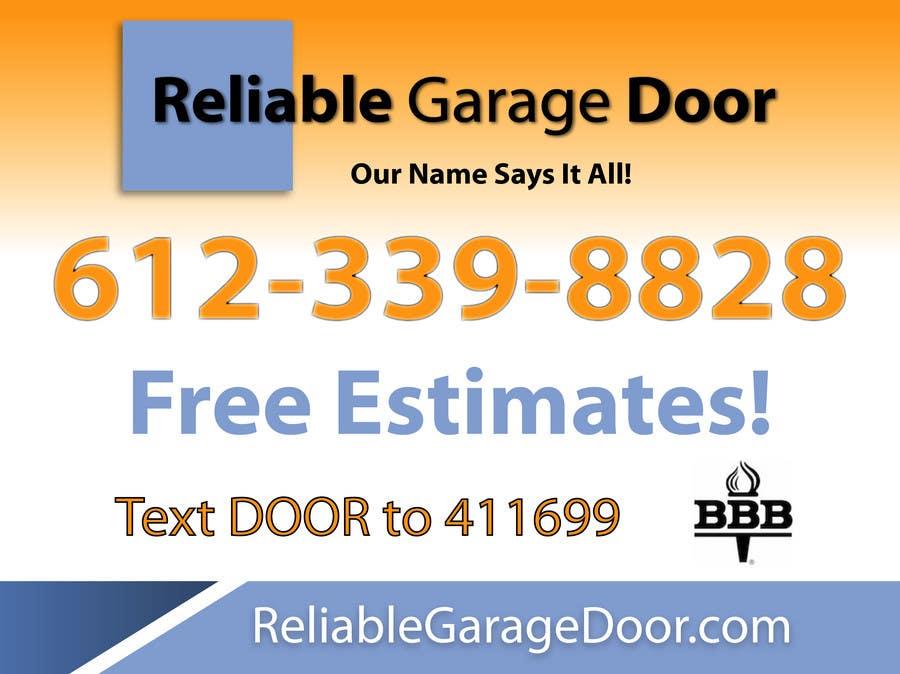 Kilpailutyö #                                        93                                      kilpailussa                                         Graphic Design for Reliable Garage Door