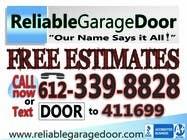 Graphic Design Kilpailutyö #110 kilpailuun Graphic Design for Reliable Garage Door