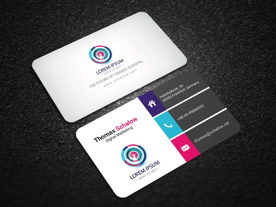 Entry #21 by sumonbgh for Business Card for a Digital Marketing ...