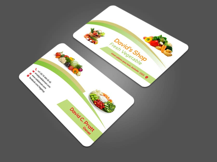 Entry #43 by sadif18 for Design a Business card for Vegetable shop ...
