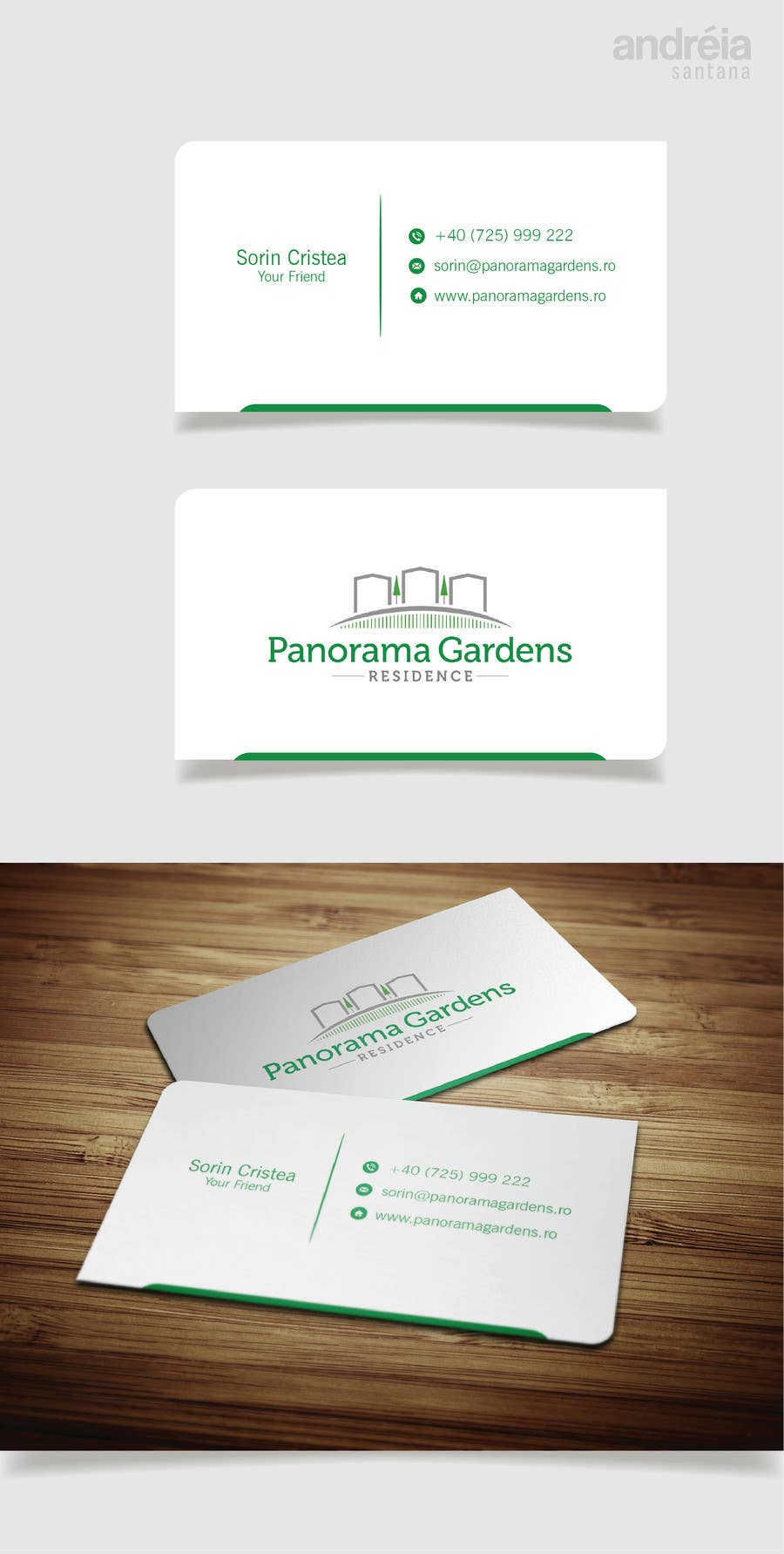 Entry #18 by AndreiaSantana27 for Minimalist business card design ...