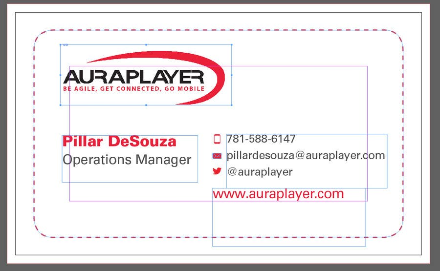 Entry #6 by Rizwanbabar92 for Fix a Business card title and name ...