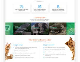 Nro 55 kilpailuun Design a Website Mockup for a pet site käyttäjältä fible89