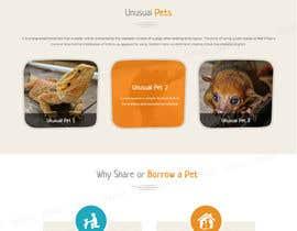 Nro 43 kilpailuun Design a Website Mockup for a pet site käyttäjältä tamamanoj