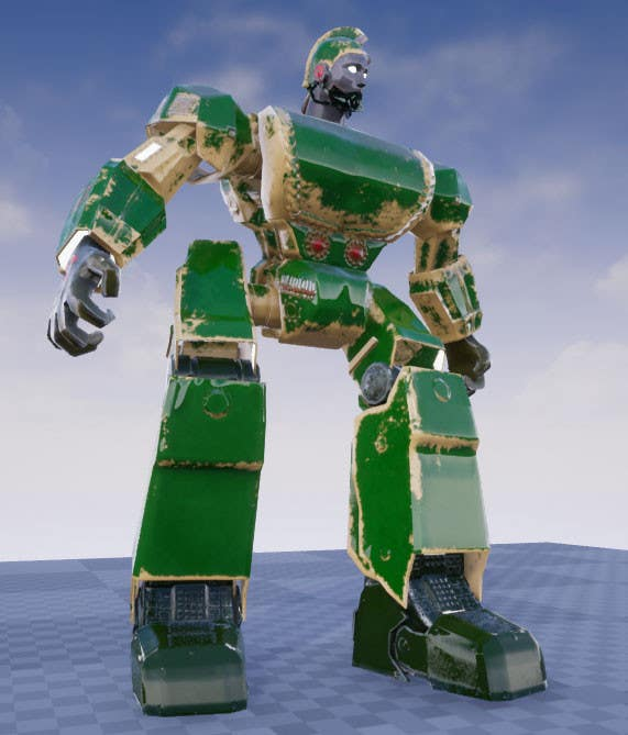 Entry #34 by mochfar for Anime Super Robot 3D Model Textured