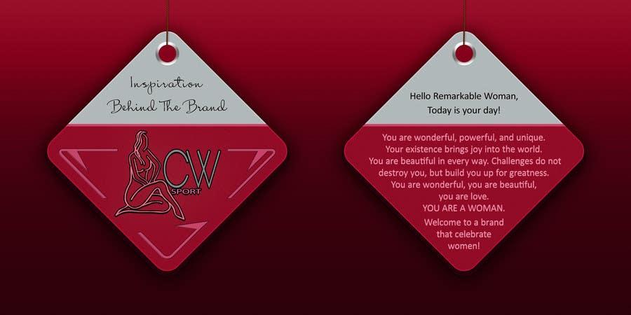 Inscrição nº                                         16                                      do Concurso para                                         Create hang tag for clothing, backdrop, and Packaging Designs