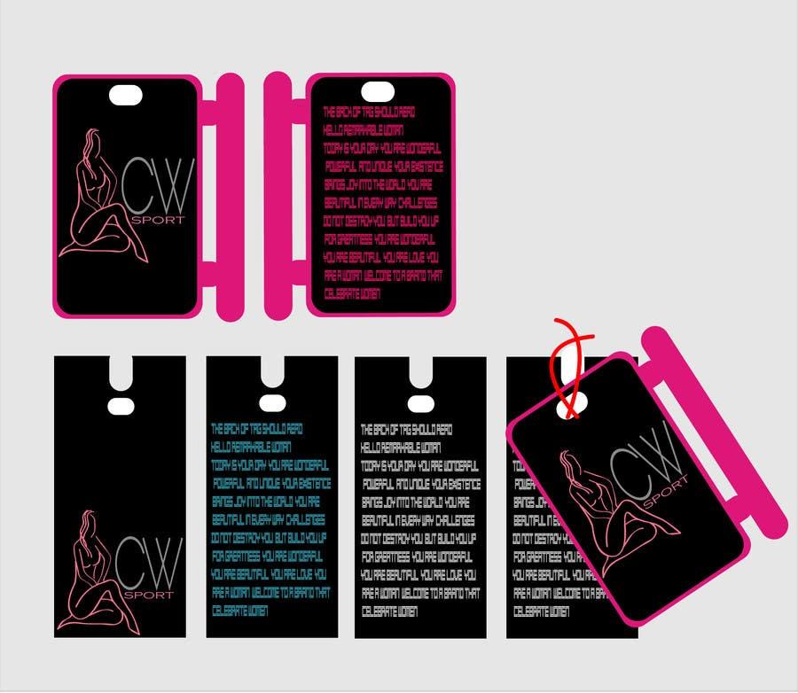 Inscrição nº                                         31                                      do Concurso para                                         Create hang tag for clothing, backdrop, and Packaging Designs