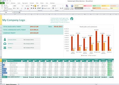 Image of                             Design an excel file for two pro...