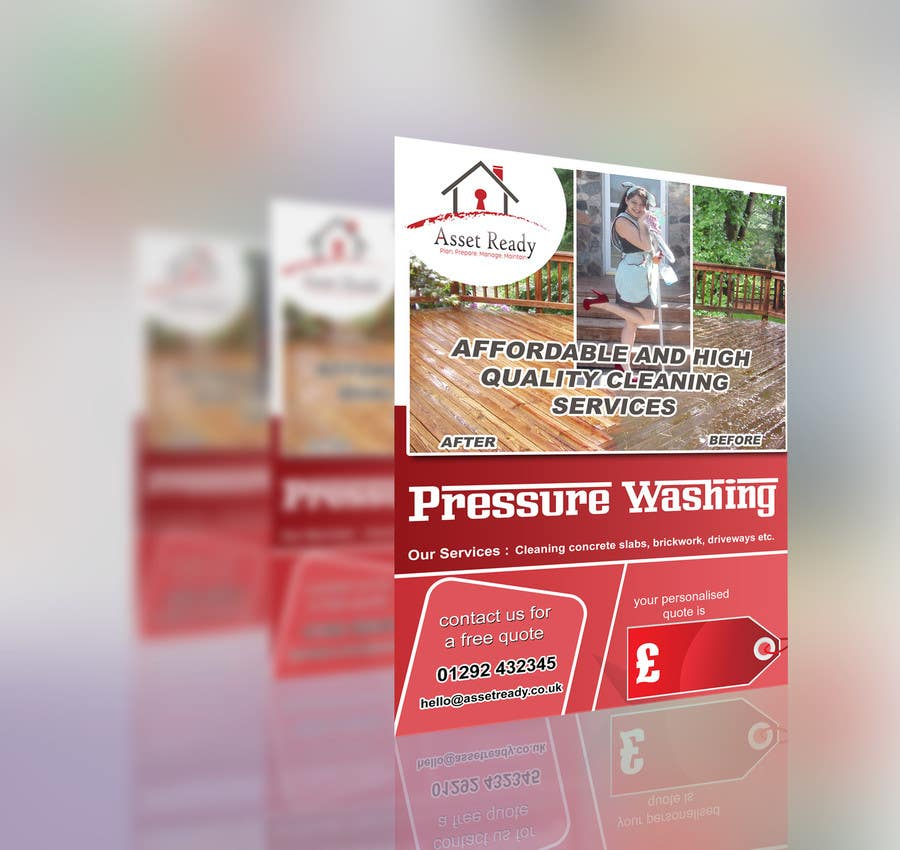 contest entry 8 for design a flyer for pressure washing buisness