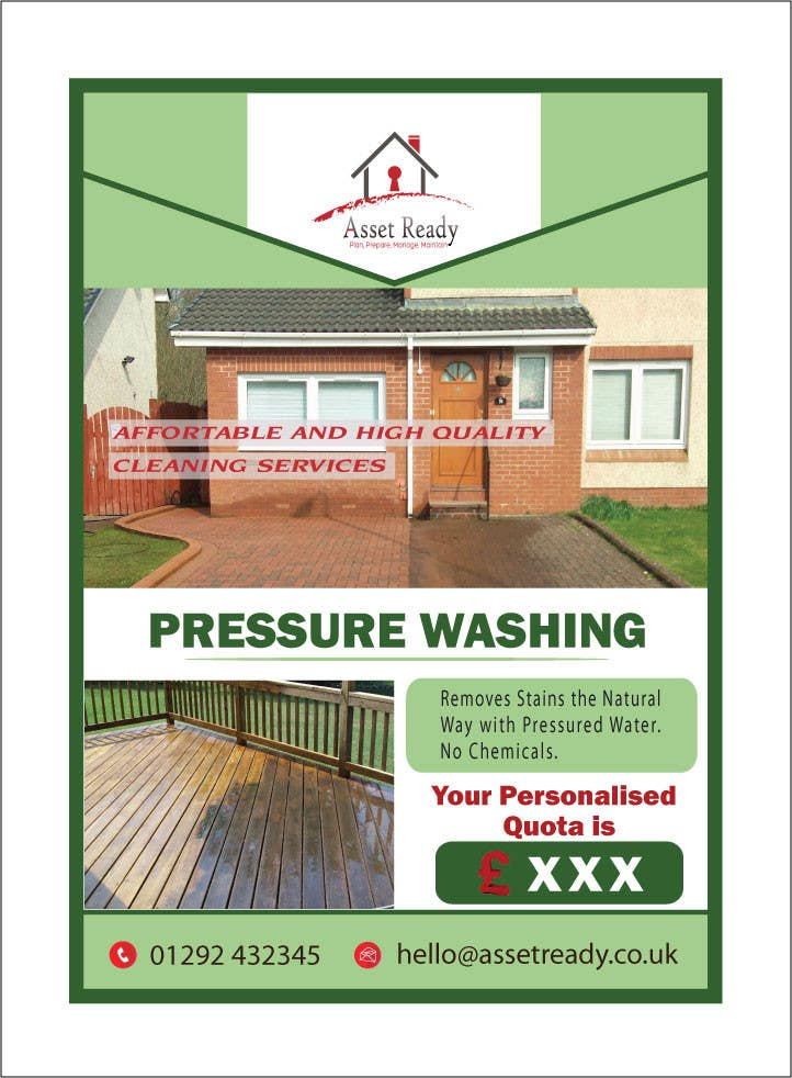 contest entry 43 for design a flyer for pressure washing buisness