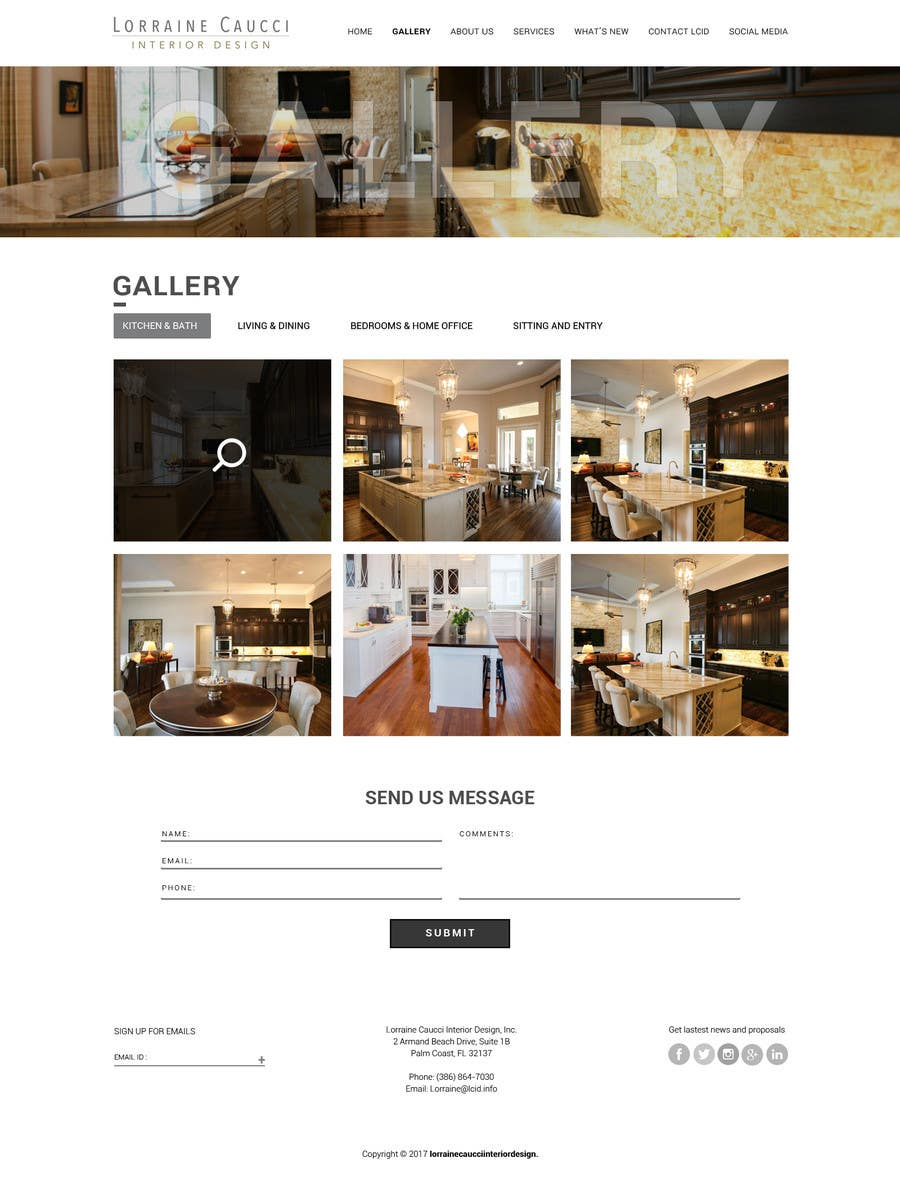 Contest Entry 8 For New Website Design Ideas Interior Business