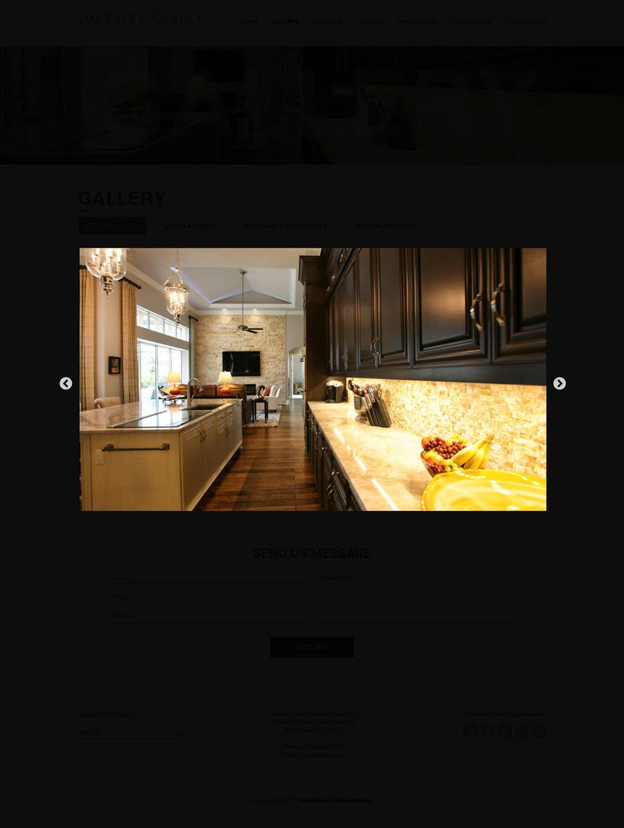 Entry #9 by saidesigner87 for New website design ideas for Interior ...