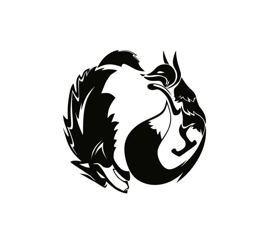 Design Animal Fox Wolf Ouroboros Logo