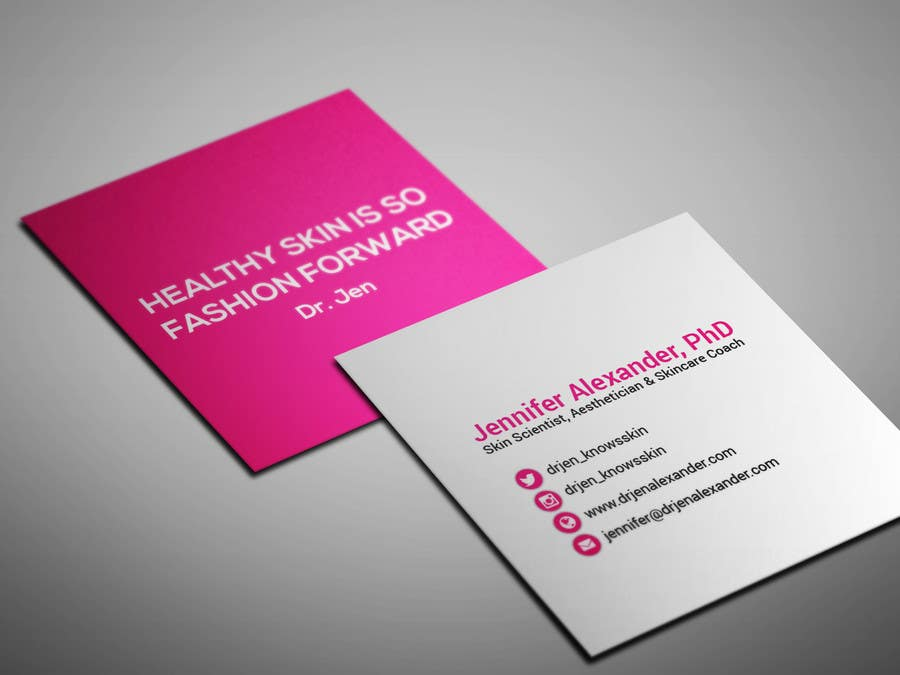 Entry 11 by smartghart for design personal business cards square business card colourmoves