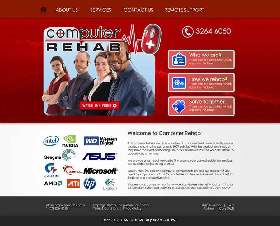 Конкурсная заявка №1 для Website Design for Computer Rehab