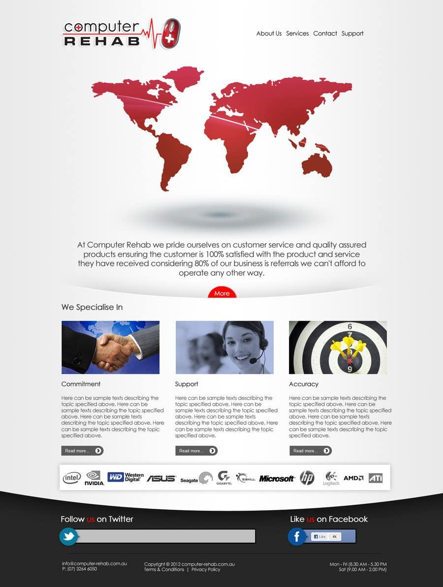 Конкурсная заявка №10 для Website Design for Computer Rehab