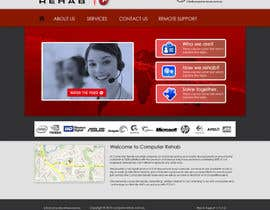 nº 52 pour Website Design for Computer Rehab par eb007