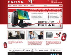 nº 26 pour Website Design for Computer Rehab par eenchevss