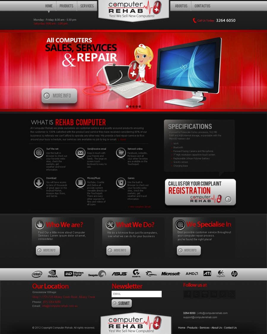 Конкурсная заявка №23 для Website Design for Computer Rehab
