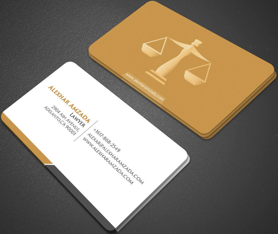 Entry 168 by mehfuz780 for design a business card for a lawyer design a business card for a lawyer reheart Image collections