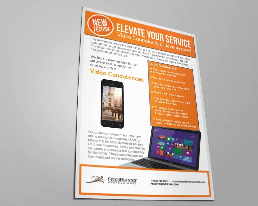 entry 8 by mnagm001 for single page brochure design freelancer