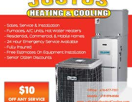 nº 7 pour Design an Advertisement for heating & cooling par ronyabdulsalam