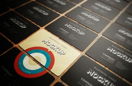 Image of                             Business card mockup