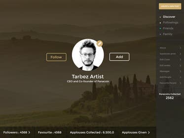 #20 for Redesigning UI of the user profile by shabcreation