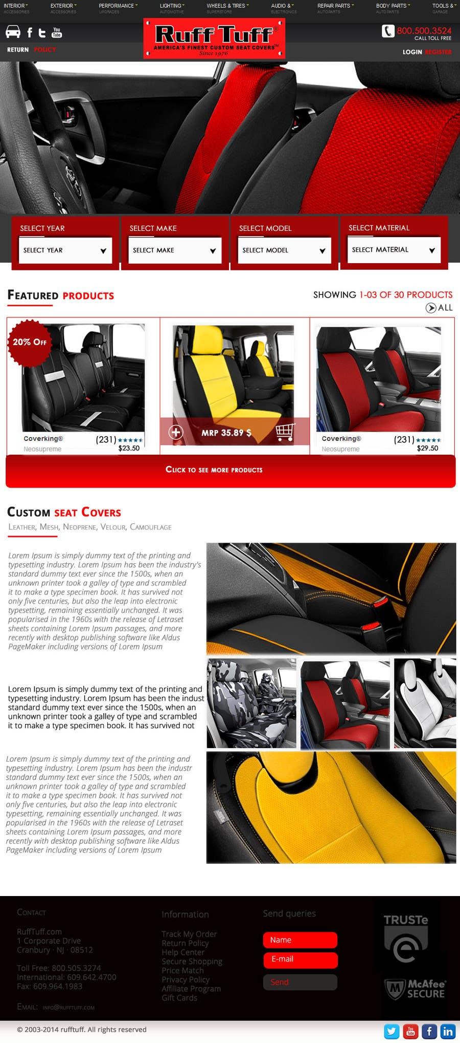 Penyertaan Peraduan #                                        31                                      untuk                                         Design a Website Mockup for an auto seat cover manufacturer