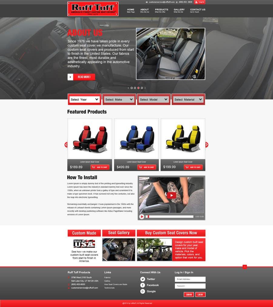 Penyertaan Peraduan #                                        16                                      untuk                                         Design a Website Mockup for an auto seat cover manufacturer