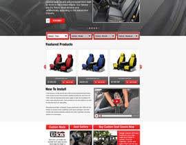#16 untuk Design a Website Mockup for an auto seat cover manufacturer oleh gravitygraphics7